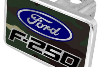 Eurosport Daytona® - Ford Motor Company Green Camouflage Premium Hitch Plug with F-250 Badge