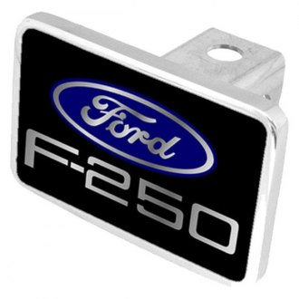 Eurosport Daytona® - Ford Motor Company Black Premium Hitch Plug with F-250 New Logo and Ford Emblem