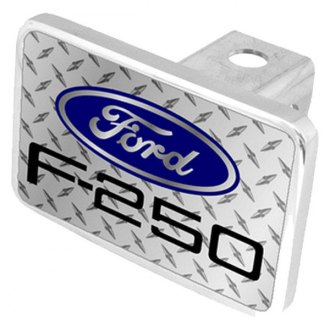 Eurosport Daytona® - Ford Motor Company Diamond Premium Hitch Plug with F-250 Logo