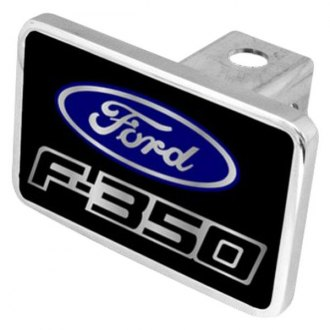 Eurosport Daytona® - Ford Motor Company Black Premium Hitch Plug with F-350 Logo and Ford Emblem