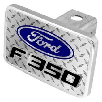 Eurosport Daytona® - Ford Motor Company Diamond Premium Hitch Plug with F-350 Badge