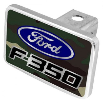 Eurosport Daytona® - Ford Motor Company Green Camouflage Premium Hitch Plug with F-350 Badge