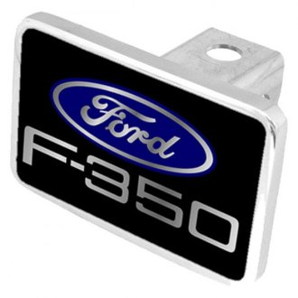 Eurosport Daytona® - Ford Motor Company Black Premium Hitch Plug with F-350 New Logo and Ford Emblem