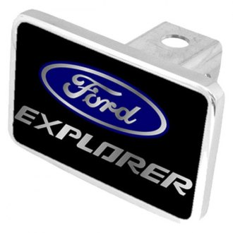 Eurosport Daytona® - Ford Motor Company Black Premium Hitch Plug with Explorer Logo