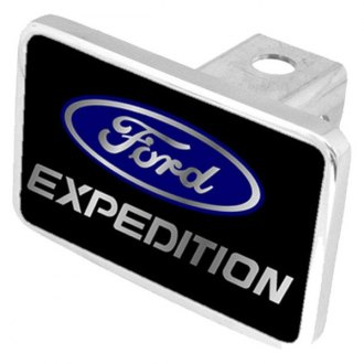 "Eurosport Daytona® - Ford Motor Company Black Premium Hitch Cover with Expedition Script Logo for 2"" Receivers"