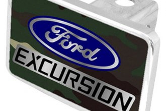 Eurosport Daytona® - Ford Motor Company Green Camouflage Premium Hitch Plug with Excursion Logo