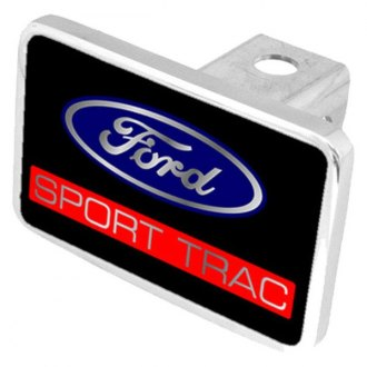 "Eurosport Daytona® - Ford Motor Company Black Premium Hitch Cover with Sport Trac Logo for 2"" Receivers"