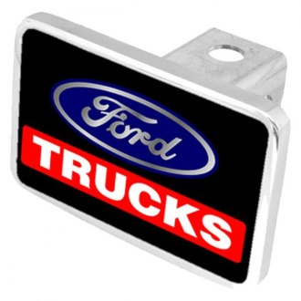 "Eurosport Daytona® - Ford Motor Company Black Premium Hitch Cover with Ford Trucks Logo for 2"" Receivers"