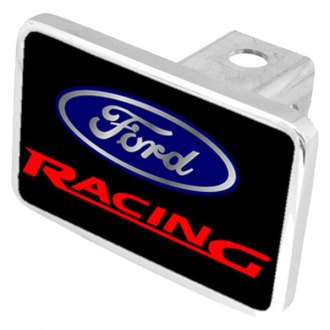 "Eurosport Daytona® - Ford Motor Company Black Premium Hitch Cover with Ford Racing Logo for 2"" Receivers"