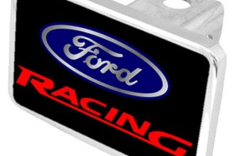 Eurosport Daytona® - Ford Motor Company Black Premium Hitch Plug with Ford Racing Logo
