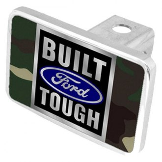 Eurosport Daytona® - Ford Motor Company Green Camouflage Premium Hitch Plug with Built Ford Tough Logo