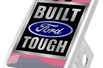 Eurosport Daytona® - Ford Motor Company Pink Camouflage Premium Hitch Plug with Built Ford Tough Logo