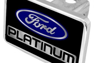 Eurosport Daytona® - Ford Motor Company Black Premium Hitch Plug with Platinum Logo