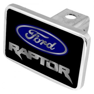 "Eurosport Daytona® - Ford Motor Company Black Premium Hitch Cover with Raptor Logo for 2"" Receivers"