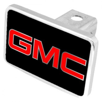 "Eurosport Daytona® - General Motors Black Premium Hitch Cover with GMC Silver Logo for 2"" Receivers"