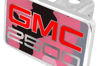 Eurosport Daytona® - General Motors Pink Camouflage Premium Hitch Plug with 2500 Logo