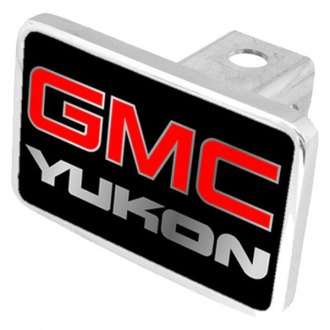 Eurosport Daytona® - General Motors Black Premium Hitch Plug with Yukon Silver Logo