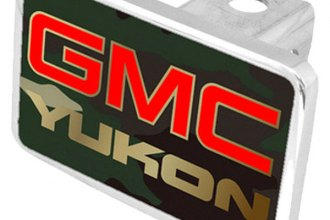 Eurosport Daytona® - General Motors Green Camouflage Premium Hitch Plug with Yukon Logo