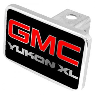Eurosport Daytona® - General Motors Black Premium Hitch Plug with Yukon XL Silver Logo