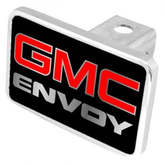 Eurosport Daytona® - General Motors Black Premium Hitch Plug with Envoy Silver Logo