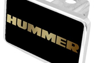 Eurosport Daytona® - General Motors Black Premium Hitch Plug with Hummer Logo