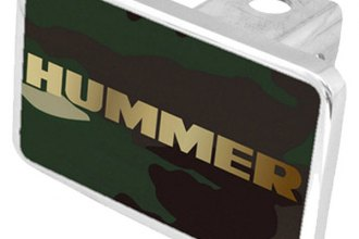 Eurosport Daytona® - General Motors Green Camouflage Premium Hitch Plug with Hummer Logo