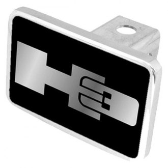 Eurosport Daytona® - General Motors Black Premium Hitch Plug with H3 Silver Logo