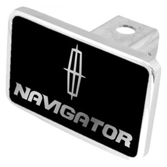 "Eurosport Daytona® - Ford Motor Company Black Premium Hitch Cover with Navigator Silver Logo for 2"" Receivers"