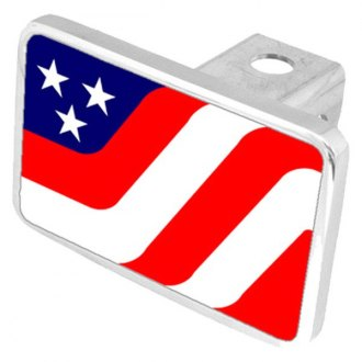 Eurosport Daytona® - LSN Black Premium Hitch Plug with USA Flag Logo