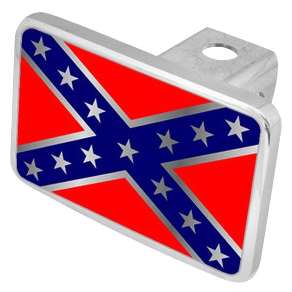 "Eurosport Daytona® - LSN Premium Hitch Cover with Rebel Flag Logo for 2"" Receivers"