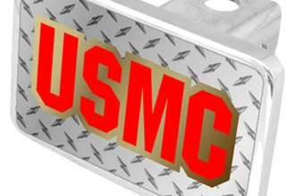 Eurosport Daytona® - LSN Military Diamond Premium Hitch Plug with USMC Logo