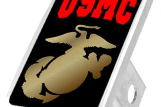 Eurosport Daytona® - LSN Military Black Premium Hitch Plug with USMC Logo