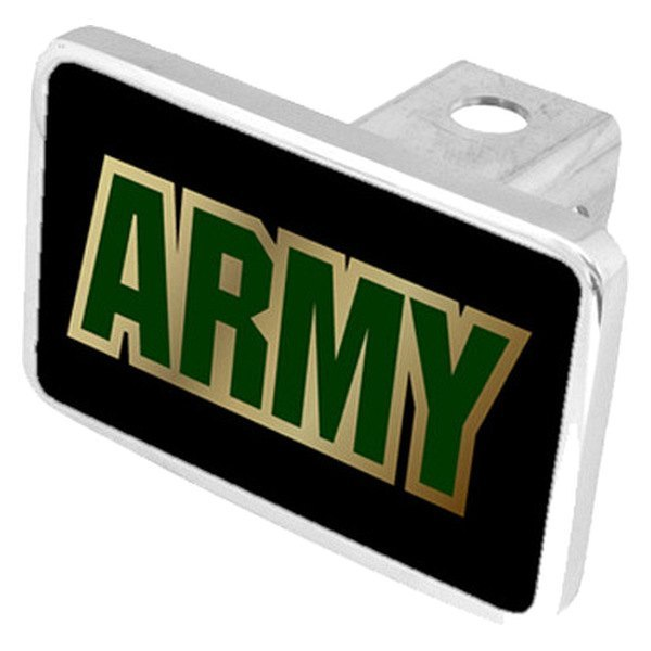 "Eurosport Daytona® - LSN Military Black Premium Hitch Cover with Army Logo for 2"" Receivers"