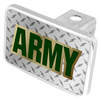 Eurosport Daytona® - LSN Military Diamond Premium Hitch Plug with Army Logo