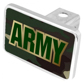 Eurosport Daytona® - LSN Military Green Camouflage Premium Hitch Plug with Army Logo