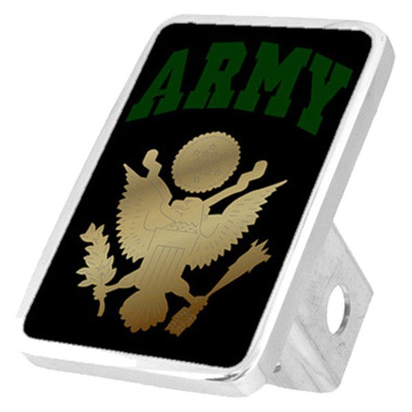 "Eurosport Daytona® - LSN Military Black Premium Hitch Cover with Army Logo and Emblem for 2"" Receivers"