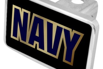 Eurosport Daytona® - LSN Military Black Premium Hitch Plug with Navy Logo