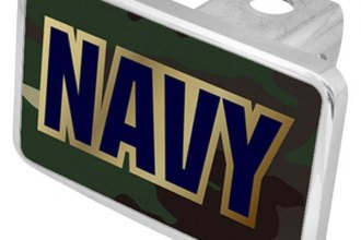 Eurosport Daytona® - Navy Logo on Green Camouflage Premium Hitch Plug