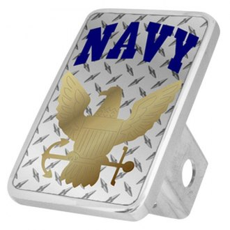 Eurosport Daytona® - LSN Military Diamond Premium Hitch Plug with Navy Logo