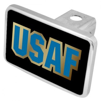 Eurosport Daytona® - LSN Military Black Premium Hitch Plug with USAF Logo