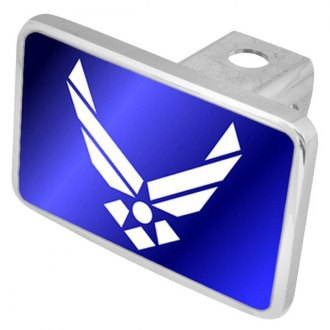 "Eurosport Daytona® - LSN Military Blue Premium Hitch Cover with USAF White Emblem for 2"" Receivers"