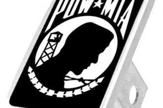 Eurosport Daytona® - LSN Military Black Premium Hitch Plug with POW MIA Logo