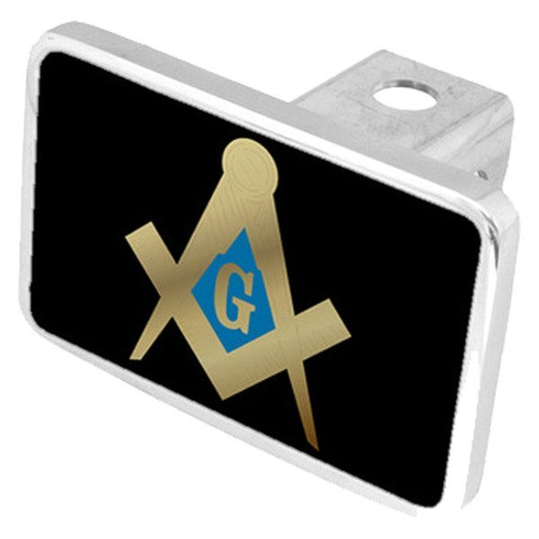 "Eurosport Daytona® - LSN Black Premium Hitch Cover with Masonic Logo for 2"" Receivers"