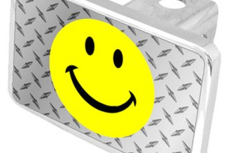 Eurosport Daytona® - LSN Smiley Face Diamond Premium Hitch Plug with Smiley Face Logo