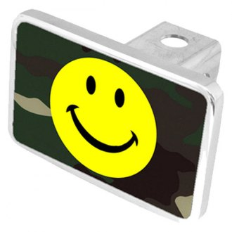 Eurosport Daytona® - LSN Smiley Face Green Camouflage Premium Hitch Plug with Smiley Face Logo