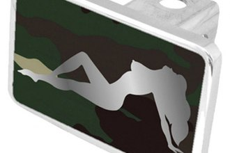 Eurosport Daytona® - Babe Logo on Green Camouflage Premium Hitch Plug