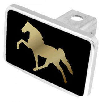 Eurosport Daytona® - LSN Black Premium Hitch Plug with Horse Logo