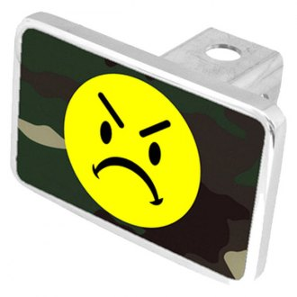 Eurosport Daytona® - LSN Mean Face Green Camouflage Premium Hitch Plug with Mean Face Logo