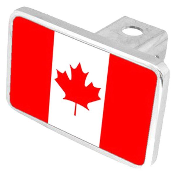 "Eurosport Daytona® - LSN Premium Hitch Cover with Canadian Flag for 2"" Receivers"