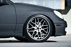 EUROTEK® - UO06 Matte Black with Machined Face on Lexus GS300